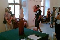 Výtvarnice Hana Richterová vystavuje na zámku v Lihartovech.