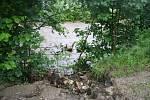 Druhý povodňový stupeň byl vyhlášený na Černé Opavě v Mnichově. První stupeň platí na Opavě v Karlovicích. Velká voda postupuje řekou Opavou níž po proudu.