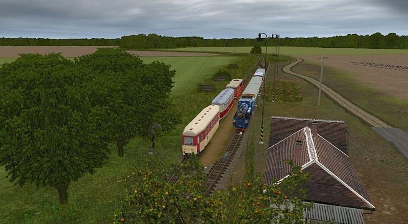 Úzkokolejka Osoblažka jezdí nejen mezi Třemešnou a Osoblahou, ale díky železničnímu Trainz simulátoru také ve virtuálním světě počítačů.