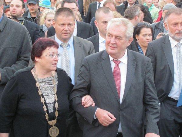 Do Krnova zavítal vúterý odpoledne prezident Miloš Zeman.