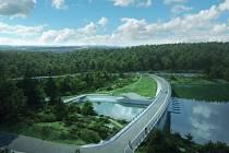 Vizualizace. Vodní dílo Nové Heřminovy po realizaci navrhovaných opatření.