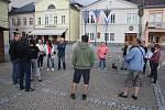 Připomenutí události 21. srpna 1968 a 1969 v Bruntále na náměstí.