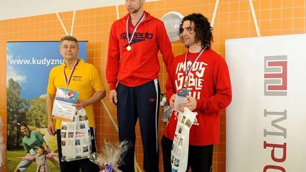 Na vydařené Velké ceně Bruntálu se představil i odchovanec domácího plaveckého oddílu Petr Gregor (vpravo).