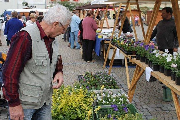 Farmářské trhy se na bruntálském náměstí Míru ve středu opět vydařily.
