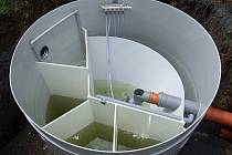 Budování čističky odpadních vod v Široké Nivě.