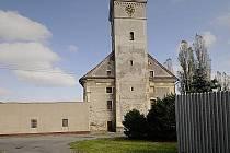Kostel sv. Jiljí ve Dvorcích.