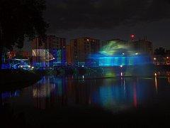 Laserová show oživila Dny města Bruntálu. Město Bruntál letos slaví osm set let od svého založení.