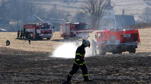 PŘESNĚ před rokem požár v Krasově pohltil desítky hektarů suché trávy a hasiči ho dokázali zastavit až na samé hranici lesa.