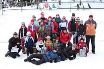 Závod v běžeckém lyžování v Břidličné.