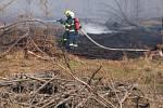 Lesní požár v Dětřichově.