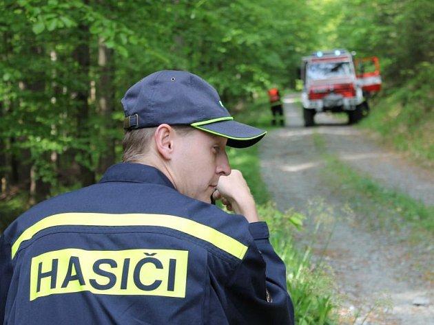 V plné výstroji, za třicetistupňových teplot hasit plameny polykající lesní porost v nepřístupném terénu Jeseníků není ani pro zkušené hasiče žádná slast.