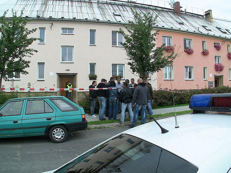 Místo tragédie v Krnově.