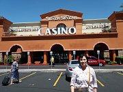 Bruntálská stolní tenistka Klaudie Mazalová si návštěvu Las Vegas velmi užila.