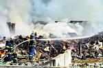 Sběrný dvůr v Rýmařově ve čtvrtek 7. května zasáhl požár.