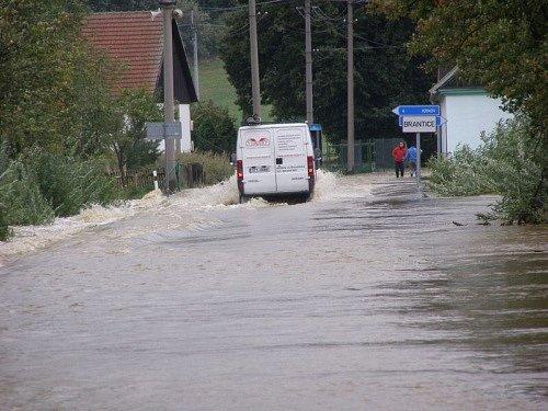 Velká voda v Branticích.