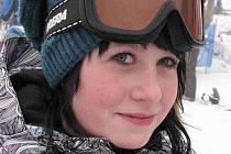 Zuzana Bačíková, snowboardistka a studentka vrbenského sportovního gymnázia, Karlova Studánka.