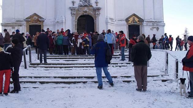 Novoroční výstup na Uhlířský vrch.