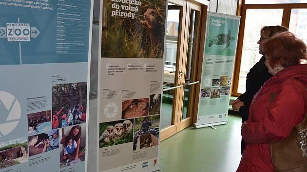 Výstava v knihovně ukazuje, jak zoo pomáhají ochraně přírody.