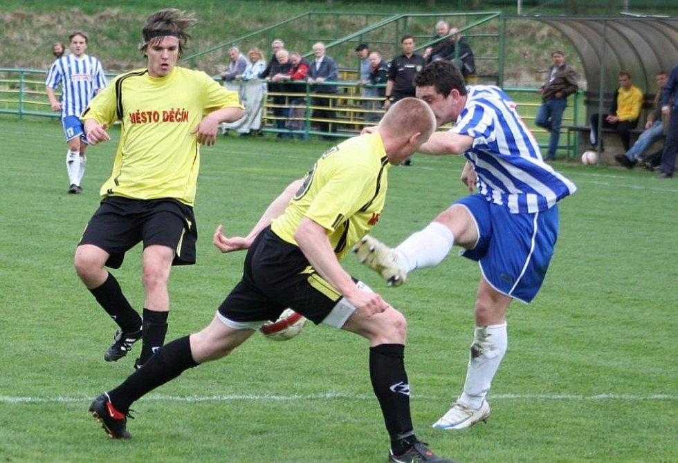 Jan Horáček v dresu FK ŘEZUZ Děčín.