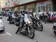 Motorkáři z několika evropských zemí projeli Děčínem.