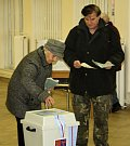 První kolo prezidentských voleb v bývalé podmokelské knihovně.
