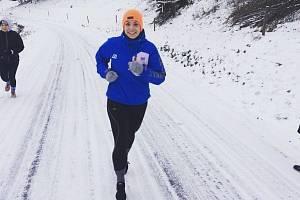 MARTINA SCHMORANZOVÁ nabírala fyzičku na zimním soustředění.