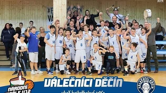 VÁLEČNÍCI DĚČÍN - tým U 12, který bude v domácím prostředí bojovat v rámci Národního finále.