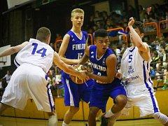 PORÁŽKA. Česká basketbalová repre U 17 nestačila ve Varnsdorfu na své finské vrstevníky.