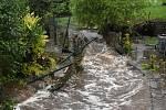 Voda napáchala v červenci 2021 na Děčínsku velké škody.
