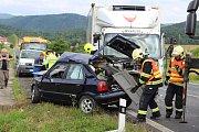 Smrtelná dopravní nehoda v Ludvíkovicích.