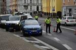 Řidič skútru havaroval v Kamenické ulici v Děčíně