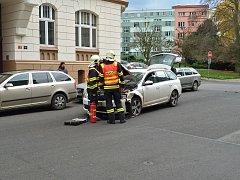 Dopravní nehoda v Děčíně.