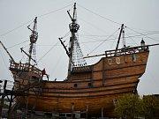 Replika Magallanesovy lodi Viktoria.