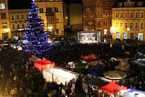 Vánoční strom v Děčíně.