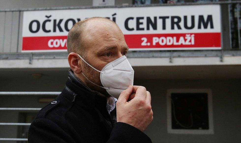 Očkování v Masarykově nemocnici v Ústí nad Labem. Petr Toncar.