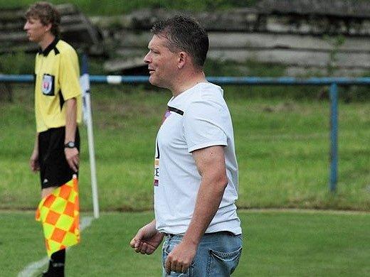 PAVEL MOKRÁČEK, trenér FK Česká Kamenice.