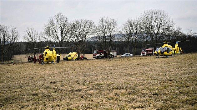 Vážná dopravní nehoda uMikulášovic, 8.března 2017