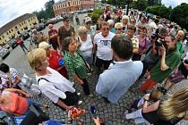Demonstrace ve Varnsdorfu 6.8.2012.