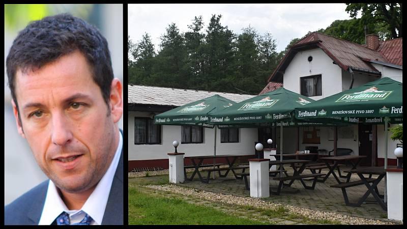 Adam Sandler natáčel v kempu U Ferdinanda v Srbské Kamenici.