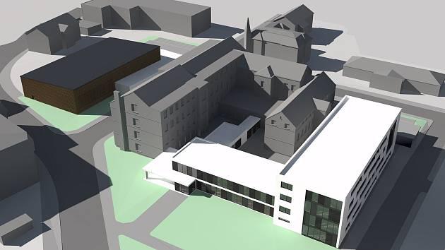 Podoba navrhovaného středoškolského kampusu ve Varnsdorfu.