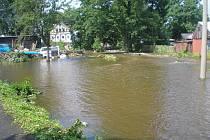 Povodně na Jedlové.