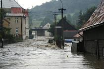 Sobotní velká voda zasáhla i Benešov nad Ploučnicí