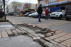 Zničené přednádraží v Děčíně.