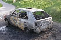 V obci Huntířov došlo k požáru osobního automobilu.