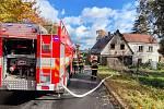 Požár ve Varnsdorfu.