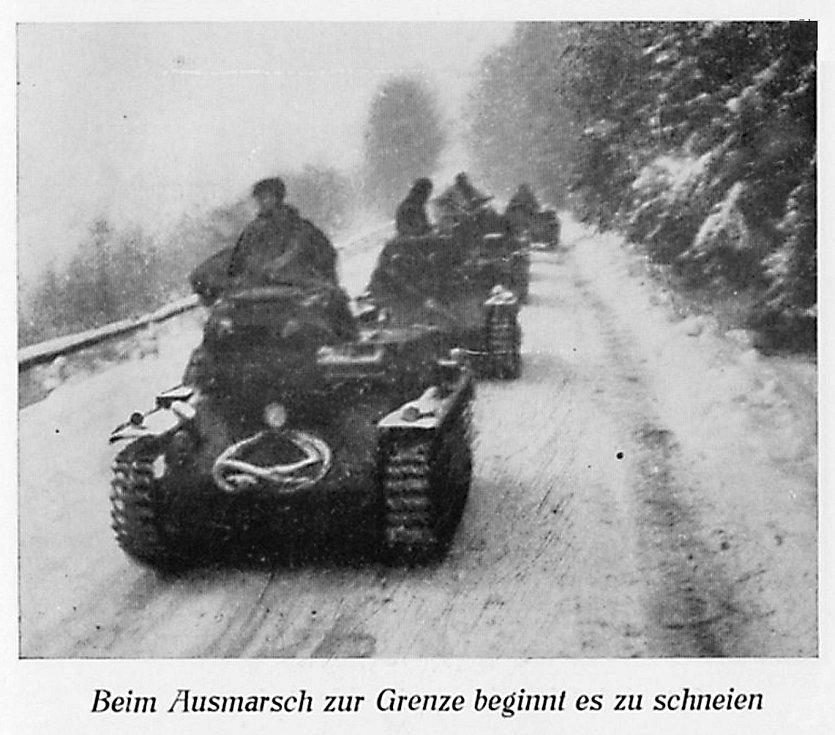 Nacistická vojska na Šébru.