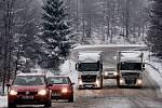 Sníh na Šébru. Ilustrační foto.