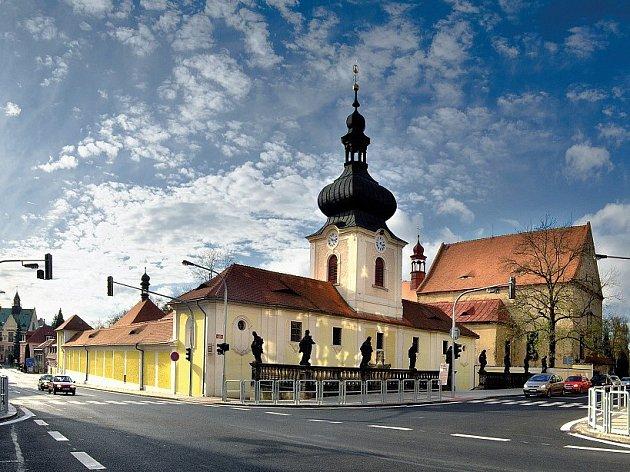 Loreta v Rumburku. Vstupní budova pochází z poloviny 18. století.