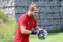 Adam Richter, brankář FK Varnsdorf.