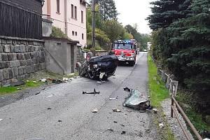 Nehoda v Dolní Poustevně.